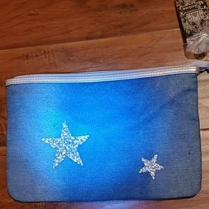 NWT DENIM HANDBAG WITH BLING STAR DESIGN
